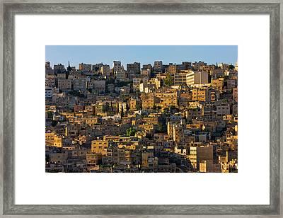 Traditional Houses In Amman, Jordan Framed Print