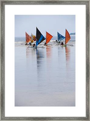 Traditional Indonesian Sailing Boats Framed Print by Science Photo Library