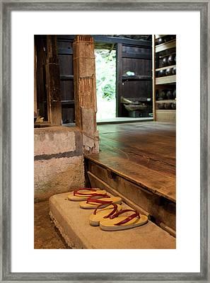 Traditional Japanese 'geta' Sandals Framed Print by Paul Dymond