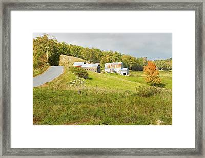 Traditional Maine Farm On Side Of Hill Canvas Poster Prints Framed Print by Keith Webber Jr