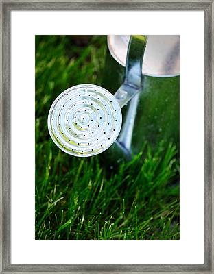 Traditional Metal Watering Can Framed Print