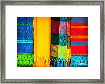 Traditional Mexican Neckerchief Framed Print by Anna Om