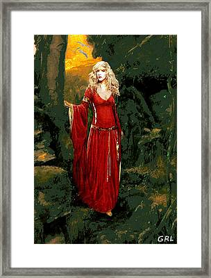 Traditional Modern Original Painting Stevie Nicks Rhiannon Framed Print