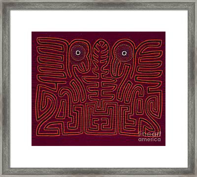 Traditional Mola Design Framed Print by Heiko Koehrer-Wagner