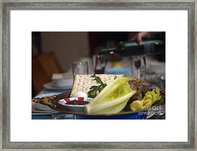 Traditional Sedder Table Framed Print by Ilan Rosen