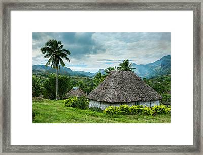 Traditional Thatched Roofed Huts Framed Print