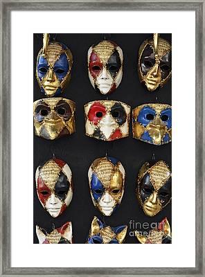 Traditional Venetian Masks  Framed Print