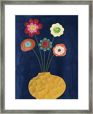 Traditional Whimsy Bouquet Framed Print