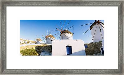 Traditional Windmill In A Village Framed Print