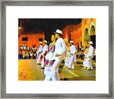 Traditional Yucatan Dancers Framed Print