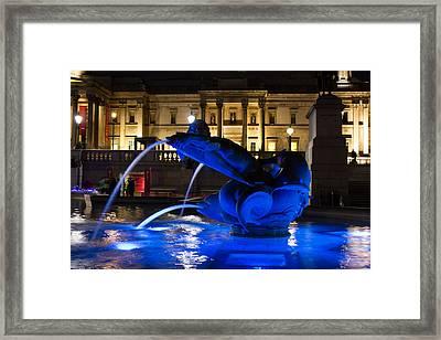 Trafalgar Square At Night Framed Print