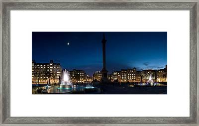Trafalgar Square At Night, London Framed Print by Panoramic Images