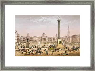 Trafalgar Square, C.1862 Framed Print by Achille-Louis Martinet