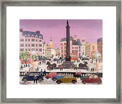 Trafalgar Square Collage Framed Print