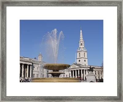 Trafalgar Square Fountain. Framed Print