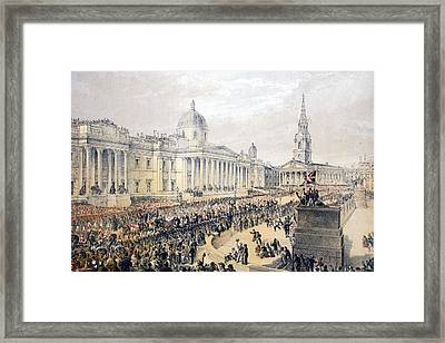 Trafalgar Square, From A Memorial Framed Print by English School