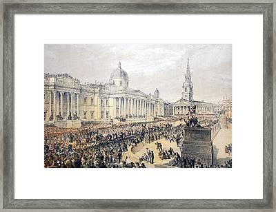 Trafalgar Square, From A Memorial Framed Print