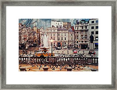 Trafalgar Square London Framed Print by Diana Angstadt