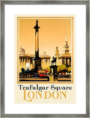 Trafalgar Square - London Framed Print