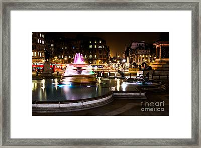 Framed Print featuring the photograph Trafalgar Square by Matt Malloy