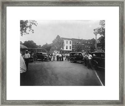 Traffic Accident At 14th And Q Streets Framed Print by Everett