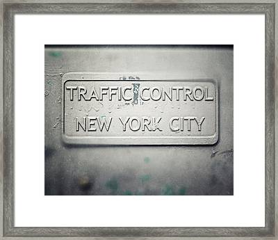 Traffic Control Framed Print by Lisa Russo