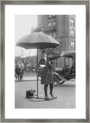 Traffic Cop In Washington D.c., Circa Framed Print