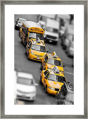 Traffic Framed Print by Delphimages Photo Creations