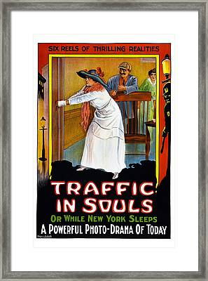 Traffic In Souls, Us Poster, 1913 Framed Print by Everett