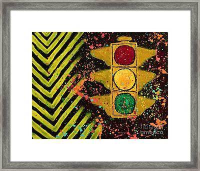 Traffic Jam Cropped Framed Print