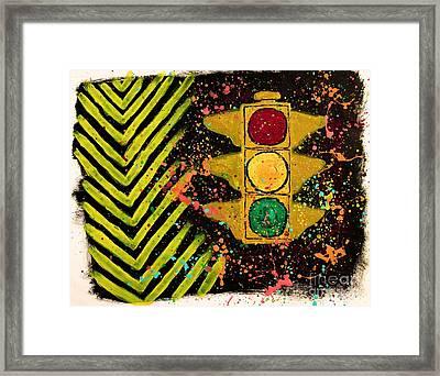 Traffic Jam Framed Print by Marina McLain