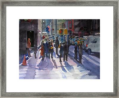 Traffic Light Framed Print by Kris Parins