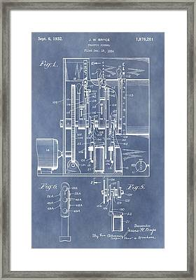 Traffic Light Patent Framed Print by Dan Sproul