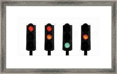 Traffic Lights Framed Print by Cordelia Molloy