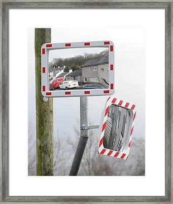 Traffic Mirrors Framed Print by Cordelia Molloy