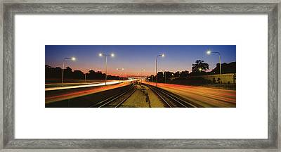 Traffic Moving In The City, Mass Framed Print by Panoramic Images