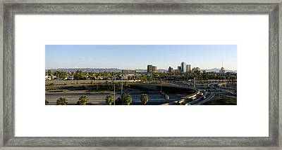 Traffic Moving On The Road, Phoenix Framed Print by Panoramic Images