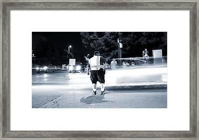 Traffic Officer Framed Print by Dan Sproul