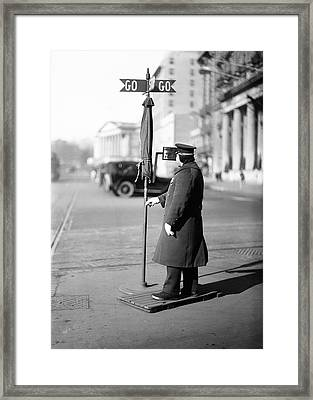 Traffic Officer Framed Print by Library Of Congress