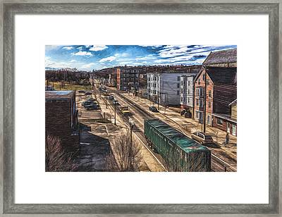 Traffic On Lincoln Street Framed Print by Bob Orsillo