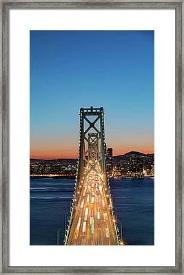 Traffic On The Bay Bridge, San Framed Print