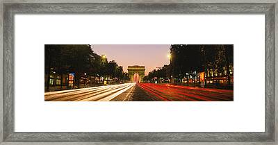 Traffic On The Road, Avenue Des Framed Print by Panoramic Images