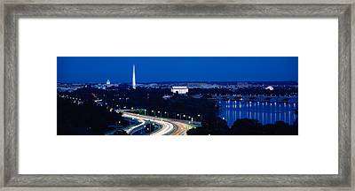 Traffic On The Road, Washington Framed Print