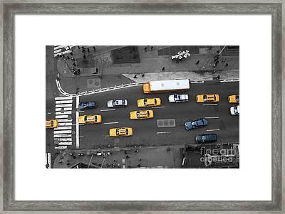 Traffic Report Framed Print by Dan Holm