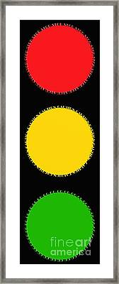 Traffic Signal Typography By Andee Design Framed Print
