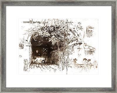 Traghetto 1880 Framed Print by Padre Art