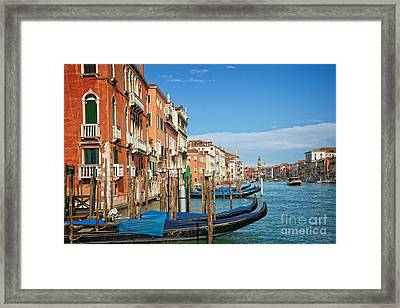 Traghetto Framed Print by Delphimages Photo Creations