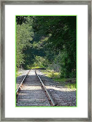Trail Along With Rail Framed Print by Sonali Gangane