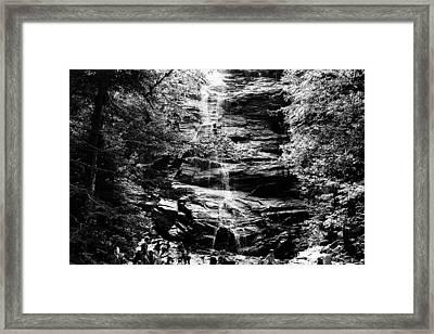 Trail Bath Framed Print by Brian Nogueira