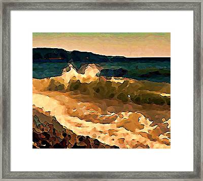 Trail Bay Wave Framed Print